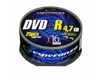 Esperanza DVD-R 4,7GB x16 - Cake Box 25