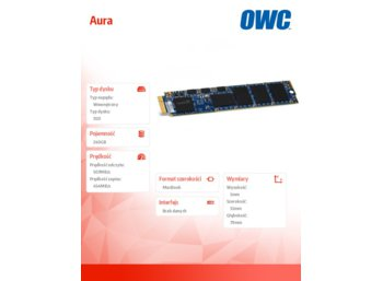 OWC Aura SSD 240GB Macbook Air 2010/2011 (285-500MB/s, 50k IOPS, Async-NAND)