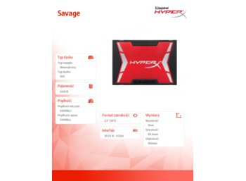 HyperX SSD SAVAGE 240GB SATA3 2.5' 560/530MB/s