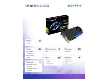 Gigabyte GeForce GTX 970 4GB DDR5 PCI-E 256BIT 2DVI/3DP/HDMI BOX