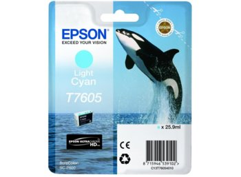 Epson T7605 Ink Cartridge Light Cyan UltraChrome HD