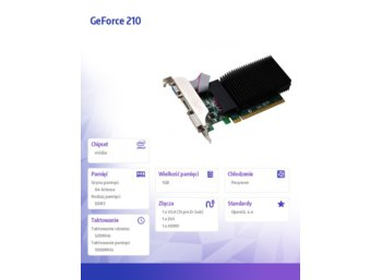 Inno3D GeForce CUDA 210 Silent 1GB DDR3 520/1066 (HDMI DVI VGA)