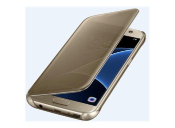 Samsung Clear View Cover Galaxy S7 Gold