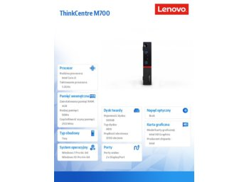 Lenovo ThinkCentre M700 Tiny 10HY002QPB W7P&W10Pro i3-6100T/4GB/500GB/Integrated/3YRS OS