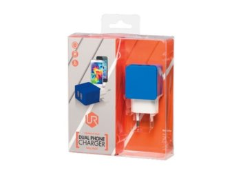 Trust UrbanRevolt 5W Wall Charger with 2 USB ports - blue