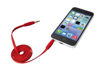 Trust UrbanRevolt Flat Audio Cable 1m - red