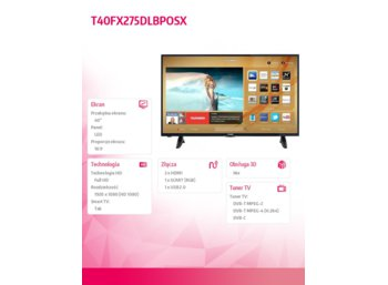 Telefunken 40'' SMART TV T40FX275DLBPOSX