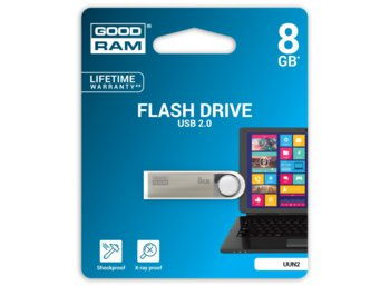 GOODRAM UUN2 8GB Silver USB2.0