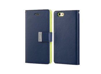 Mercury Etui Rich Galaxy Note 3 Neo granat/limonka, notes