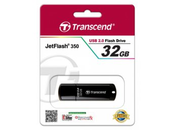 Transcend JETFLASH 350 32GB USB2.0 BLACK