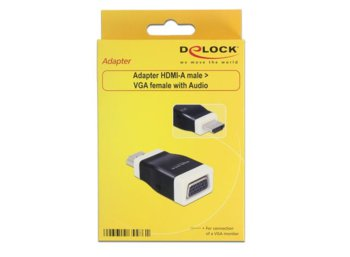 Delock Adapter HDMI-A(M)->VGA(F)+z funkcją audio