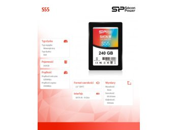 Silicon Power SSD SLIM S55 240GB 2,5 SATA3 520/330MB/s 7mm