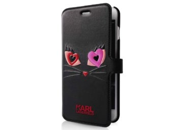 Karl Lagerfeld Etui Book iPhone 7 KLFLBKP7CL2BK czarny CHOUPETTE IN LOVE