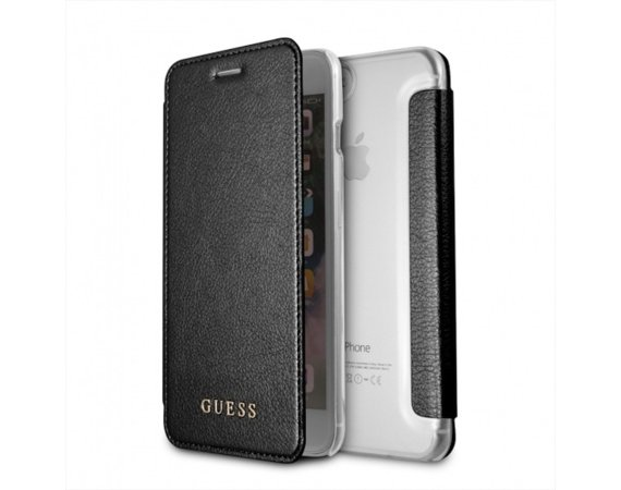 GUESS Etui book GUFLBKI8LIGLTBK iPhone 7/8 Plus czarny Iridescent