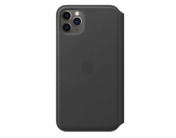 Apple Skórzane etui folio do iPhone 11 Pro Max - czarne