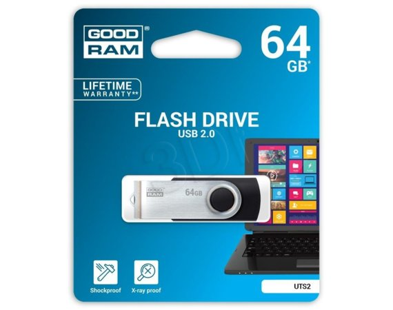 GOODRAM TWISTER 64GB BLACK