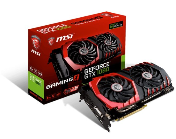 MSI GeForce GTX 1080 8GB DDR5 256BIT DVI/HDMI/3DP BOX