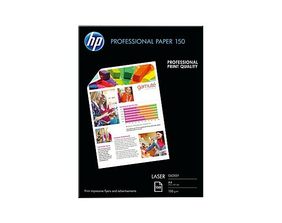 HP Inc. PAP PHOTO LASER GLOSS 150g A4 150ark    CG965A