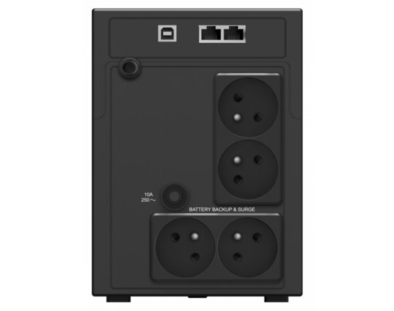 PowerWalker UPS Line-Interactive 2200VA 4x PL 230V, RJ11/RJ45 In/Out, USB,   2x ładowarka USB