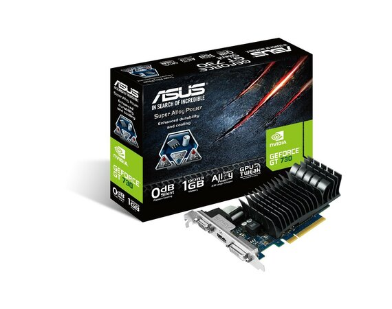 Asus GeForce GT 730 1GB DDR3 PCI-E 64BIT HD/DVI/DS BOX