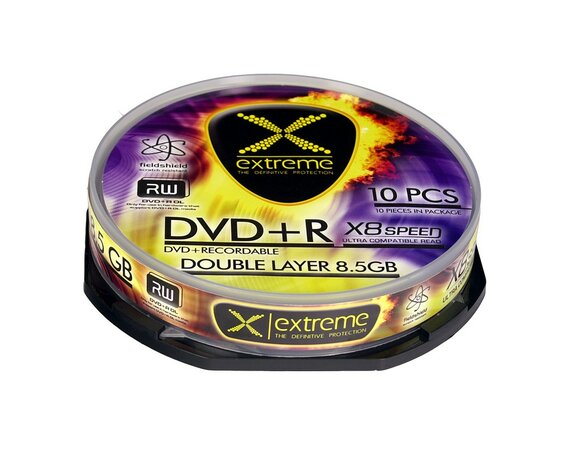 Extreme DVD+R 8,5GB Double Layer x8 - Cake Box 10