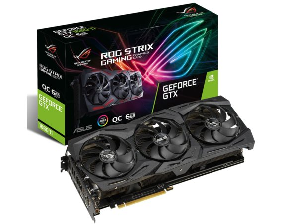 Asus Karta graficzna GeForce ROG STRIX GTX 1660 TI OC GAMING 192BIT 6GB GDDR6 2HDMI/2DP