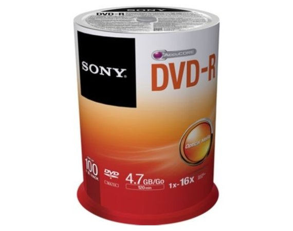 Sony DVD-R 16x 4.7GB (100 CAKE)