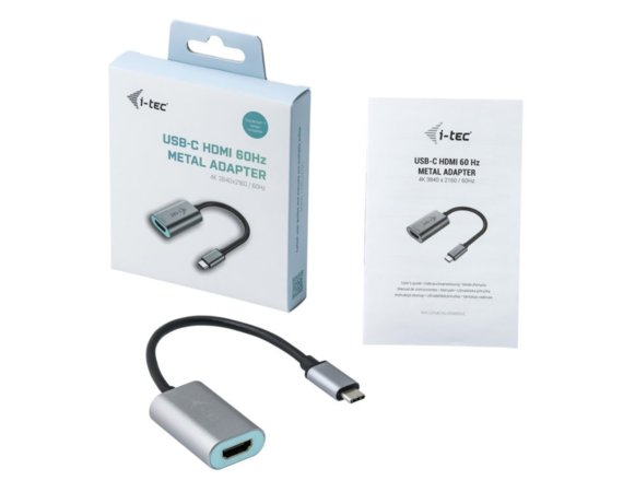 i-tec Adapter USB-C do HDMI, 4K Ultra HD 60Hz kompatybilny z Thunderbolt 3