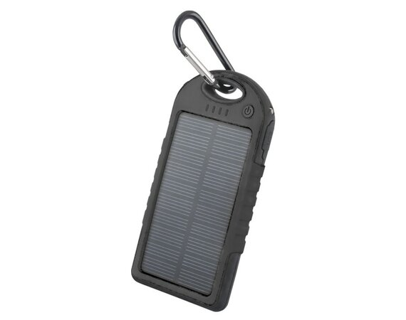 Forever  POWER BANK SOLARNY PB-016 5000MAH BLACK LED FLASH 2XUSB