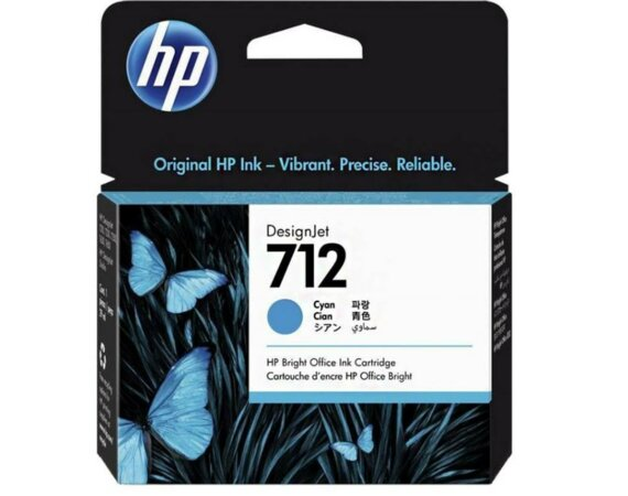 HP Inc. Tusz 712 29ml 3ED67A błękitny
