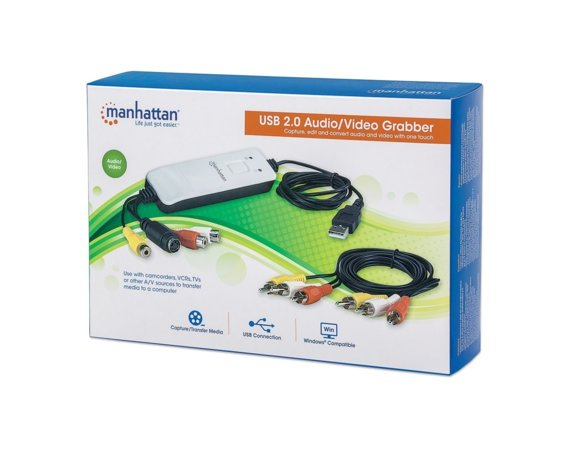 Manhattan Grabber Audio/Video Hi-Speed USB 2.0, NTSC/PAL/SECAM
