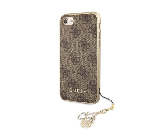 GUESS Etui hardcase GUHCI8GF4GBR iPhone 7/8 brązowy 4G Charms Collection