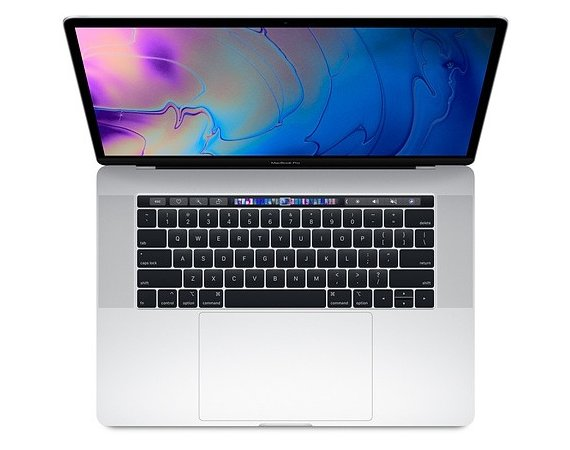 Apple Laptop MacBook Pro 15 Touch Bar, i7 2.2GHz 6-core/16GB/256GB SSD/Radeon Pro 555X 4GB - Silver