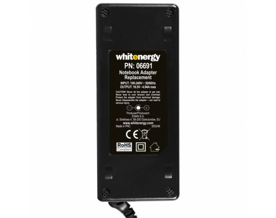 Whitenergy Zasilacz ( 06691) 18.5V | 4.9A 90W wtyk 7.4*5.0 mm + pin HP
