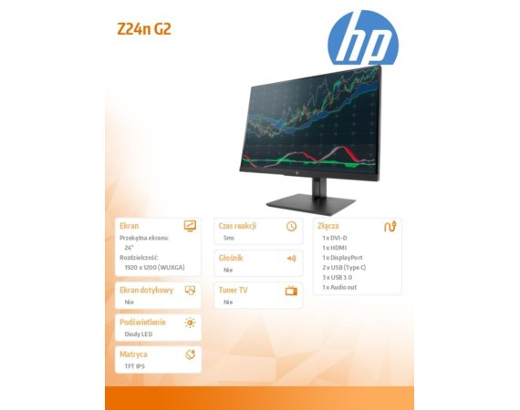 HP Inc. Monitor 24 Z24n G2 Display 1JS09A4