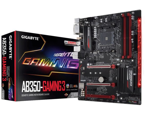 Gigabyte GA-AB350-Gaming 3 AM4 B350 4DDR4 2USB3.1/HDMI/M2 ATX