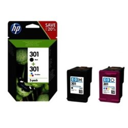 HP Inc. Combo Pack Tusz 301bk+cl N9J72AE