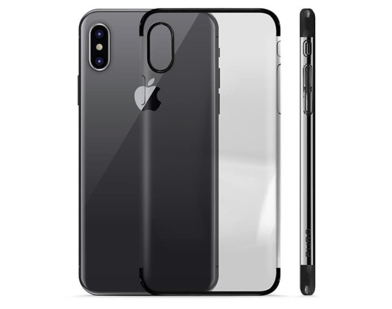 PURO Verge Crystal Cover - Etui iPhone X (czarny)