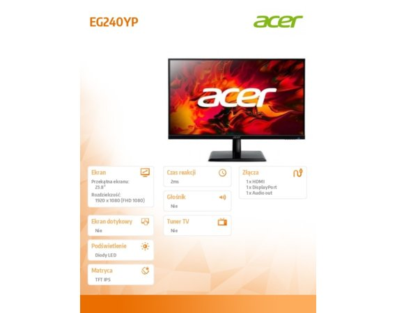 Acer Monitor 24 cale EG240YPbipx