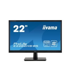 IIYAMA Monitor 21.5 cala E2282HS-B5 1ms,HDMI,DVI,VGA,FLICKER,SPEAKER