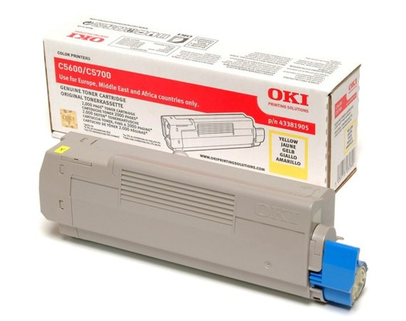OKI Toner C5600/5700 Yellow (2k)