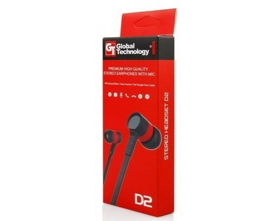Global Technology HF GT D2 czarno-czerwony 3.5 mm jack