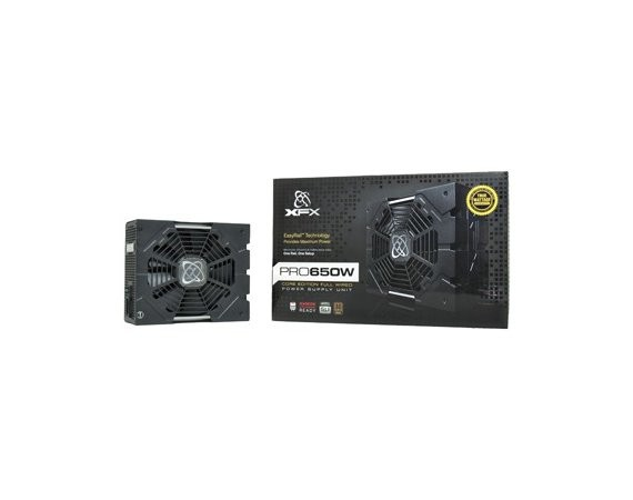 XFX Core TS 650W (80+ Bronze, 4xPEG, 135mm, Single Rail)