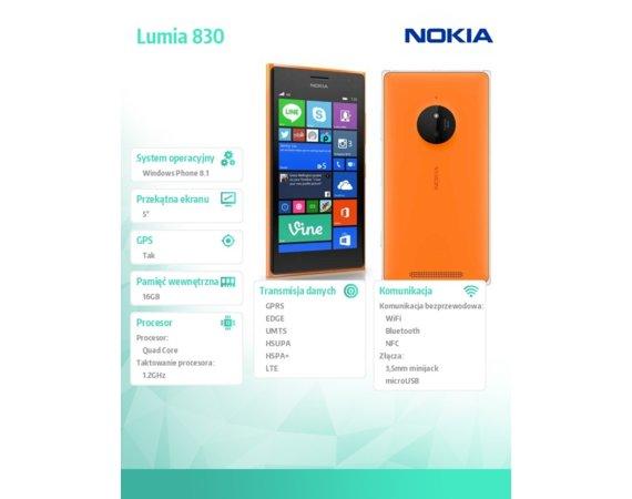 Nokia Lumia 830 SS ORANGE