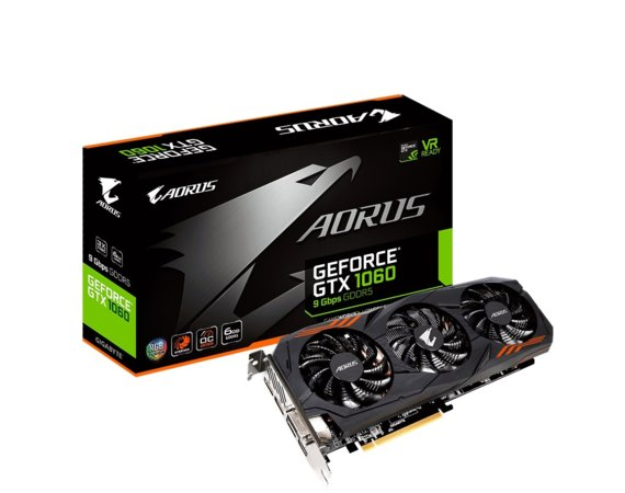 Gigabyte GeForce GTX 1060 6GB GDDR5 192BIT DVI-D/HDMI/3DP