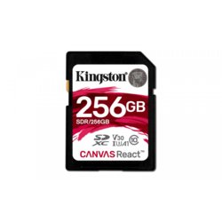 Kingston SD 256GB Canvas React 100/80MB/s U3 UHS-I V30 A1
