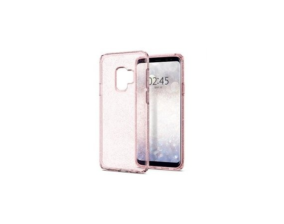 SPIGEN SGP  Liquid Crystal Etui Galaxy S9 Glitter Rose Quartz