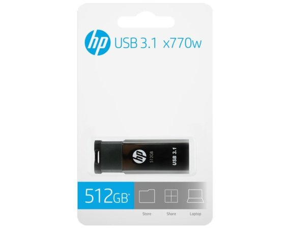 HP Inc. Pendrive 512GB HP USB 3.1 HPFD770W-512