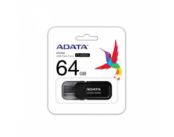 Adata Pendrive UV240 64GB USB 2.0 Czarny