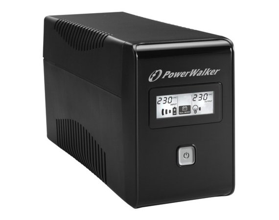 PowerWalker UPS LINE-INTERACTIVE 650VA 2X SCHUKO OUT, RJ11 IN/  OUT, USB, LCD